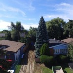 Photo of Arial look at a house