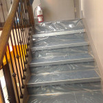 Photo of New Staircase with rap on it