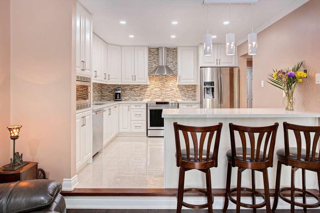 kitchen renovation with bar