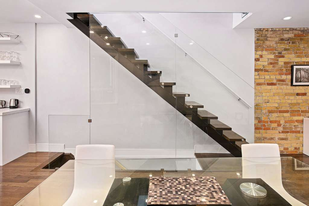 railings and staircases with glass panels
